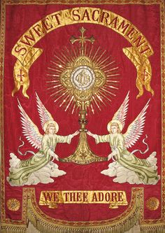 """Sweet Sacrament Divine by Lawrence OP on Flickr.  """"When we ingest the Eucharist in reality we are ingesting the Godhead.....because His Body and Blood are diffused through our members we becomepartakers of the divine nature."""" -St. Cyril of Alexandria"""