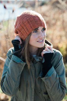 Late Harvest Hat by Tina Fischer/Moss Hand Knits | malabrigo Worsted in Cognac