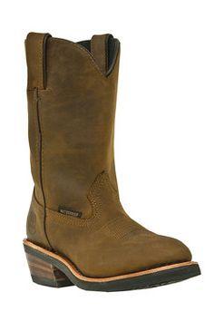 Dan Post Women's Tan Distressed Kate Waterproof Cowgirl Boots