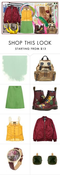 """""""relaxed beauty"""" by jennross76 ❤ liked on Polyvore featuring Oris, Burberry, Jonathan Saunders, Dr. Martens, Stussy, Les Néréides, splatter and drmartins"""