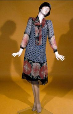 An daytime outfit consisting of a dress, underdress, and sash, 1927. Tyne and Wear Museums