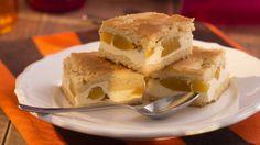 Linecký koláč s broskyňami   Recepty.sk