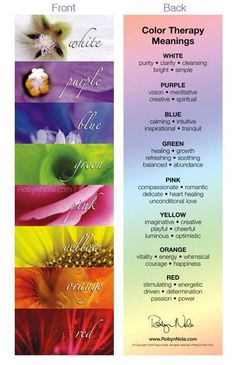 Color therapy with the chakras.