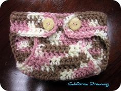 Crochet a diaper cover