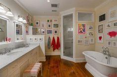 my DREAM house!!!! such a cute idea to frame kids artwork and hang in their bathroom. 1283 Highland Rd, Santa Ynez, CA 93460 - MLS