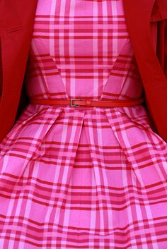 Perfectly tailored pink plaid