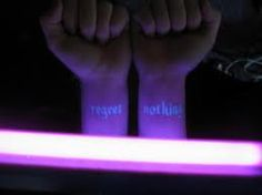 definately getting a black light tattoo.  and white ink.