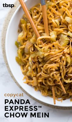 Just like your favorite eat-in Chinese! This chow mein makes a great side. Or serve it up with chicken and make it a meal. In the classic dish, the noodles are cooked until barely tender, then essentially fried with cabbage, celery and a light sesame-soy sauce. Do the same, and you'll be delighted with the results.