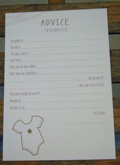 Baby Shower Games  Advice for MommytoBe Cards  by JennMOriginals, $10.00