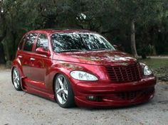 2014 Chrysler PT Cruiser in Red w/ Silver undercoat