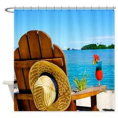Beach Chair Shower Curtain> Beach Chair Shower Curtains> Beach Shower Curtains Store