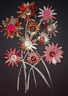 Craft and Other Activities for the Elderly: Make a Junk-Mail Flower Collage! Elderly Crafts, Elderly Activities, Crafts For Seniors, Senior Crafts, Crafts To Make, Easy Crafts, Crafts For Kids, Homemade Crafts, Spring Activities