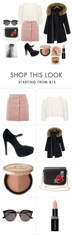"""""""Untitled #264"""" by reka15 on Polyvore featuring Topshop, Too Faced Cosmetics, Charlotte Russe, Illesteva and Smashbox"""