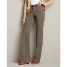 Eddie Bauer Womens Curvy StayShape® Stretch Twill Trousers, Driftwood 16W Plus