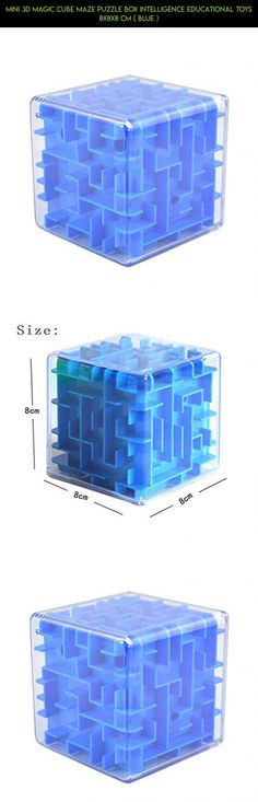 Mini 3D Magic Cube Maze Puzzle Box Intelligence Educational Toys 8x8x8 cm ( Blue ) #cube #kit #camera #adults #maze #for #fpv #drone #technology #plans #gadgets #parts #tech #racing #products #shopping
