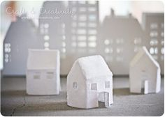 felt houses to light up or not - directions at http://craftandcreativity.com/blog/2011/12/05/filthus/