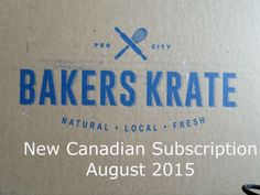 Bakers Krate August 2015 Bakers Krate is a New Canadian subscription box that sends you gourmet baked goods every month. There are three different options Bakers Krate Junior (Manitoba Only), Bakers Krate Original (Manitoba Only) and Bakers Krate Express (Canada wide), as I am in BC I Received the Bakers Krate Express which costs $19.99... #canadasubscription #canadian #canadiansubscriptionbox