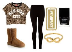 """""""Cheetah Print"""" by thatgirlgeniaa ❤ liked on Polyvore featuring H&M, UGG Australia, River Island, Butter London and ChloBo"""
