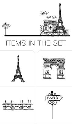 """Paris Doodle"" by riverkentvalley ❤ liked on Polyvore featuring art"