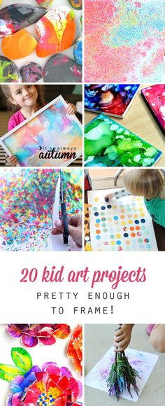 20 kid art projects that turn out pretty enough to frame. Fun kids craft and activity ideas. 20 kid art projects that turn out pretty enough to frame. Fun kids craft and activity ideas. Fun Crafts For Kids, Craft Activities For Kids, Toddler Crafts, Diy For Kids, Diy And Crafts, Arts And Crafts, Activity Ideas, Craft Ideas, Decorating Ideas