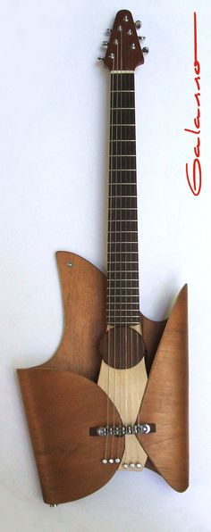 A contemporary leaf guitar produced by the gifted Ezequiel Galasso.