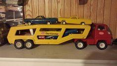Tonka car carrier with cars 4