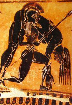 Ajax Carries the Dead Achilles-Greek Vase Detail BC, Florence) Greek History, Ancient History, Art History, Ancient Greek Art, Ancient Greece, Art D'ours, Art Romain, Greece Art, Classical Greece