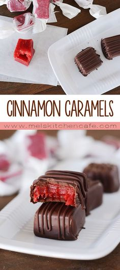 These delectable little cinnamon caramels are like a cinnamon bear but a hundred times better. Chocolate Caramels, Chocolate Dipped, Homemade Chocolate, Candy Recipes, Sweet Recipes, Dessert Recipes, Desserts, Dessert Ideas, Christmas Baking