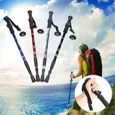 Ultra-light Handle Adjustable Canes Walking Hiking Sticks Trekking Pole Compass Specification: Material: Aviation aluminum alloy rod, manganese steel tip Size: (max. Hiking Food, Hiking Tips, Hiking Gear, Camping Gear, Camping Tools, Camping Outfits, Backpacking Tips, Walking Poles, Wooden Walking Sticks