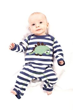 Striped Dino Sleepsuit