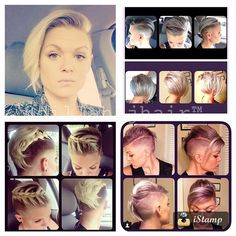 """Shout out to my beautiful and awesome client showing off just how versatile her short/shaved hairstyle can be! Thank you Rach! @rtelfor!! #hair #haircut…"""