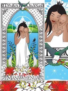 Mana Whenua: Taku Kai, Taku Oranga (My Sustenance, My Wellbeing) Polynesian People, Polynesian Art, New Zealand Art, Nz Art, Maori Art, Kiwiana, Xmas Crafts, Art Forms, Art Pictures