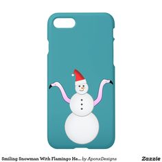 Phone Case: Smiling Snowman With Flamingo Heads/Necks For Arms Head And Neck, Iphone 7 Cases, Iphone Case Covers, Cover Design, Flamingo, Snowman, Create Your Own, Arms, Weird