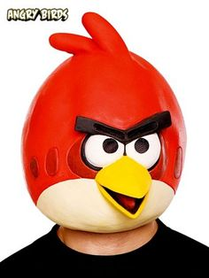 Angry Birds Red Bird Adult Mask Angry Birds Halloween Costume, Angry Birds Costumes, Halloween Costume Shop, Halloween Masks, Funny Halloween, Spooky Halloween, Angry Birds Pumpkin, Red Angry Bird, Home