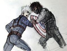 Mighty Fall (Winter Soldier!Au Hijack) by KT-ExReplica.deviantart.com on @deviantART