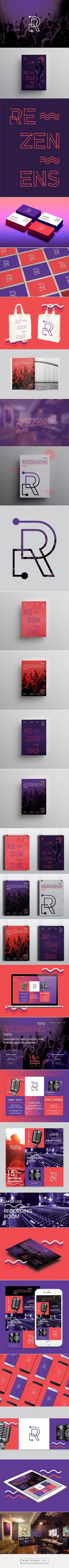 REZENENS Branding on Behance | Fivestar Branding – Design and Branding Agency & Inspiration Gallery