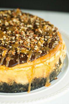 Turtle Cheesecake by @Michelle (Brown Eyed Baker) :: www.browneyedbaker.com