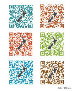 NZ QR: Series of New Zealand immigration QR codes designed by Set QR in Tokyo.