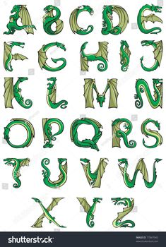 Find Dragons Alphabet Fantasy Dragon Shape Font stock images in HD and millions of other royalty-free stock photos, illustrations and vectors in the Shutterstock collection. Thousands of new, high-quality pictures added every day. Fantasy Dragon, Dragon Art, Fantasy Art, Letter Art, Letters, Dragon Birthday, Hand Lettering Alphabet, Dragon Pictures, Art Lessons