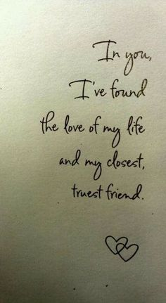 I found the greatest love in you...