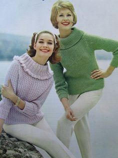 From Etsy -   Knit Sweater Patterns - 1960's Vintage Patterns, 2 Ladies' Sweaters 2801, 2802