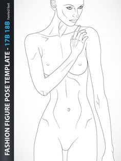 9 Heads Fashion Figure Template, includes fashion figure from the side view. Fashion figure template has all body details. Fashion Figure Drawing, Fashion Model Drawing, Fashion Design Drawings, Fashion Sketches, Fashion Poses, Fashion Art, Female Fashion, Fashion Illustration Template, Fashion Figure Templates