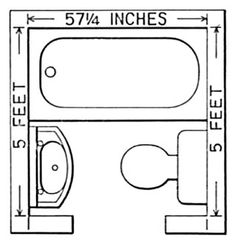 Small Bathroom Design 5' X 5' 5 x 5 bathroom floor plan - victoriana magazine (bathroom design