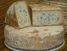 I wish I had this big cheese wheel of blue cheese!