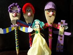 Easy Designs For Kids Homemade Puppets Homemade Puppets, Homemade Toys, Homemade Crafts, Diy Crafts, Activities For Kids, Crafts For Kids, Kids Diy, Easter Crafts, Finger Puppets