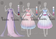 :: Adoptable Outfit 10: AUCTION OPEN :: by VioletKy on DeviantArt