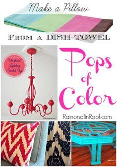 Pops of Color via RainonaTinRoof.com