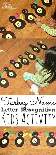 Turkey Name and Letter Recognition Activity - simplytodaylife.com