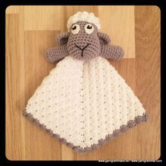 Må absolut lave det her nusse får til bettemanden. Crochet Lovey, Crochet Baby Toys, Crochet Animals, Crochet For Kids, Crochet Yarn, Baby Knitting, Baby Security Blanket, Lovey Blanket, Amigurumi Patterns