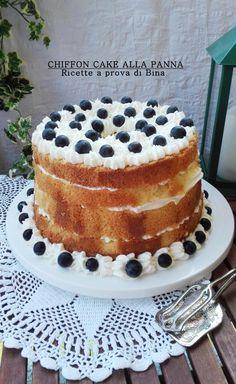 CHIFFON CAKE ALLA PANNA - Ricette a prova di Bina Angel Cake, Angel Food Cake, Torta Chiffon, Cake Recipes, Dessert Recipes, Desserts, Cake Cookies, Cupcake Cakes, Cupcakes